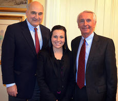 "<div class=""source"">Photo submitted</div><div class=""image-desc"">St. Catharine College junior Paige Hassman, center, recently worked with Cabinet for Economic Development Secretary Larry Hayes, left, and Governor Steve Beshear, right, while on internship in Frankfort at the Cabinet for Economic Development.</div><div class=""buy-pic""></div>"