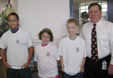 """<div class=""""source"""">Photo submitted</div><div class=""""image-desc"""">St. Charles Middle School August """"Students of the Month"""" are, from left, Nick Villarreal (seventh grade), Mary Beth Badgett (sixth grade), and Mitchell Followay (eight grade). The students are pictured with Counselor Danny McFall. </div><div class=""""buy-pic""""></div>"""