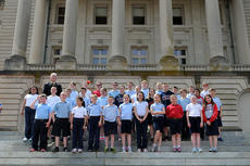 "<div class=""source"">Photo submitted</div><div class=""image-desc"">State Rep. Terry Mills welcomed fifth grade students from St. Augustine Catholic School to the Capitol recently. The group is pictured on the Capitol's front steps. </div><div class=""buy-pic""></div>"