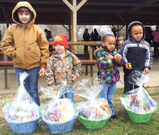"<div class=""source"">Photo submitted</div><div class=""image-desc"">Photo submitted Pictured are the Easter basket winners at the Easter egg hunt held at Graham Memorial Park Saturday morning. They are, from left, Alexis Garrett, Konner Goodin, Adriana Brown and Rashaud Brown.  </div><div class=""buy-pic""></div>"