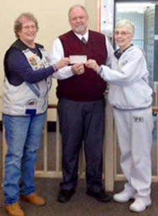 "<div class=""source""></div><div class=""image-desc"">Chapter 1038 of the Vision Riders  donated $342 to the center. Pictured are Mary Ann Ohsol of Vision Riders, Tim Cook, (treasurer) and Brenda Harmon, (coordinator) of the Community Service Center.  The Community Service center is a non profit organization that provides aid to those in our community in need. Help is provided in the form of food, utilities, clothing, medicine, and more. It is funded from donations from our local churches, businesses, and charitable citizens within the community. The Community Service Center operates out of the basement of the Christian Church across from the post office, and is open on Mondays, Wednesdays, and Fridays from 9 to 11 a.m., and also operates strictly from volunteers from our community.  All donations are welcomed.</div><div class=""buy-pic""></div>"