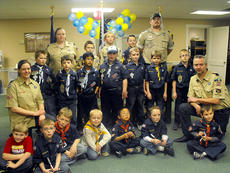 "<div class=""source"">Photo submitted</div><div class=""image-desc"">The Cub Scouts Pack 90 chartered through Lebanon United Methodist Church celebrated their annual Blue & Gold ceremony Saturday, March 2. Special recognition goes to Marion County Superintendent Dr. Chuck Hamilton, Marion County Judge-Executive John G. Mattingly, OKH District Executive Scott Landram and his wife Missy Landram for attending. </div><div class=""buy-pic""></div>"