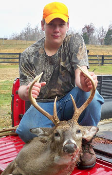 "<div class=""source"">submitted</div><div class=""image-desc"">Jordan Garrett, 13, took this 8-point buck on his family's farm in Gravel Switch. He is the son of Jamie and Charlsie Garrett and Sue Tucker.</div><div class=""buy-pic""></div>"