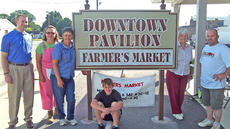 """<div class=""""source"""">Photo submitted</div><div class=""""image-desc"""">The Lebanon/Marion County Farmers Market held a grand opening on Saturday, June 9. Pictured are Adam Poff (Marion County Chamber of Commerce), Buffy Ryan, Terry Williams, Judy Alford, Stanley Essex and Keith Ballard (sitting). </div><div class=""""buy-pic""""></div>"""