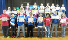 "<div class=""source"">Photo submitted</div><div class=""image-desc"">Glasscock Elementary March Students of the Month are front row, from left, Max Cobb, Christopher Yocum, Clay Brown, Dylan Hourigan, Nick Martin, Cory Hall, Alex Tungate, and Hannah Tungate; middle row, Josie Followell, Trishia Villanueva-Perez, Hailey Coulter, Nathan Hoeck, Rachel Pittman, Gracie Walston, Alexis Smith, Charleigh Browning, and Summer Votaw; and back row, Keegan Cheser, Lexi Gabehart-Gilbert, Dominic VanCleave, Xavier Jacobs, Cody Murphy, Jaxon Huff, Brice Ewing, and Joshua Lanham. </div><div class=""buy-pic""></div>"