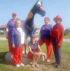 "<div class=""source"">Photo submitted</div><div class=""image-desc"">From left, Lottie Robey, Frankie Nally, Barbara Ann Nalley, Clara Hutchins, and Jeannie Mattingly at Camp Horsin' Around. </div><div class=""buy-pic""></div>"