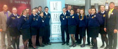 """<div class=""""source"""">Photos submitted</div><div class=""""image-desc"""">The Marion County FFA Executive team traveled to Louisville Oct. 30-Nov. 2 for the 85th annual National FFA Convention.  Pictured above, from left, Advisor James Followell, Michelle Thompson, Brittany Jones, Zach Hardin, Paige Cecil, Anthony Mattingly, Brooklyn Russell, Tyler Jones, John Robert Purdom, Aaron Spalding, Mark Jones, Taylor Mitchell, Joseph Peterson, Kaitlyn Spalding, Joey Sandusky, Samantha Garrett, Bethany Purdom, and Advisor Daniel Mattingly.</div><div class=""""buy-pic""""></div>"""