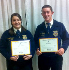 """<div class=""""source""""></div><div class=""""image-desc"""">Nikki Purdom and Alex Luckett received their American FFA Degree, the highest degree offered by the National FFA Organization.  </div><div class=""""buy-pic""""></div>"""