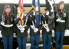 """<div class=""""source"""">Photo submitted</div><div class=""""image-desc"""">Marion County High School JROTC presented the colors at Boyle County High School for the annual Inter-County Energy board meeting on May 9. From left are Timmy Gillum, Andrew Villanueva, Anthony Hagan, Taylor Lanham, and John Cox. </div><div class=""""buy-pic""""></div>"""