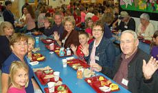 """<div class=""""source"""">Photo submitted</div><div class=""""image-desc"""">Grandparents and parents enjoyed a school lunch with their grandchildren and children at West Marion Elementary School recently. Pictured are Chelsey Hardin, Kaleb Hamilton and Ethan Scott enjoying lunch with their grandparents</div><div class=""""buy-pic""""></div>"""