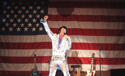 Marion County native and national renowned Elvis impersonator Eddie Miles performed several shows in Lebanon in 2013.