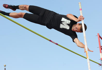 Brooks Divine became the Class 2A state champion in the pole vault by clearing 13 feet, six inches. Divine will attempt to defend his title in the spring.