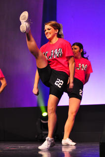 Pictured is Mattingly competing in the fitness portion of the Kentucky Junior Miss competition. She won the overall fitness award, as well as awards in scholastics, self-expression and talent.