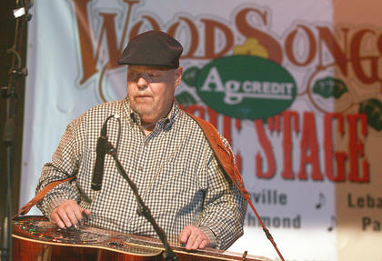 Phil Leadbetter made his third appearance at the Kentucky Bluegrass Music Festival this past weekend. Leadbetter performed with the Dale Ann Bradley Band on Saturday evening.