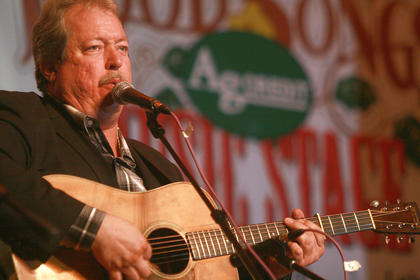 Russell Moore, the four-time IBMA male vocalist of the year, sings with his band IIIrd Tyme Out on Saturday.