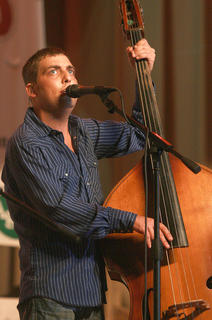Blake Johnson, formerly of the Hagar's Mountain Boys, returned to the Kentucky Bluegrass Music Festival on Saturday with Russell Moore and IIIrd Tyme Out.