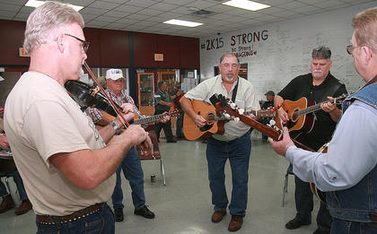 Jam sessions were common throughout the day on Saturday at Marion County High School.