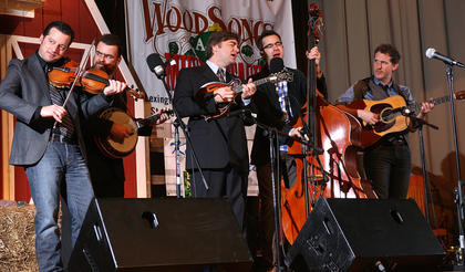 The Travelin McCourys were the headlining act for the Saturday evening dinner show at the Kentucky Bluegrass Music Kickoff.