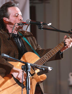 "Don Gaylord of Nashville performs ""A Little Mojo"" Saturday night. Gaylord won the singer/songwriter competition held in conjunction with this year's Kentucky Bluegrass Music Kickoff."