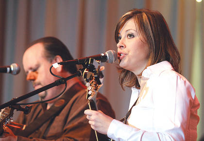 Kelly Caldwell returned to the Kentucky Bluegrass Music Kickoff this year with her new band, The Mountain Connection.