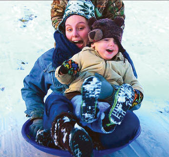 Ashleigh Knopp and her son, Noah, went sledding recently. This photo was taken by Beth Wilson.