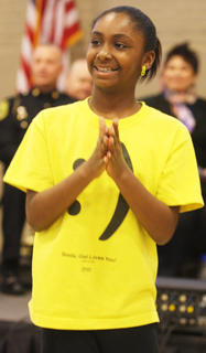 Aundaria Brown performs with the Marion County Youth Center during the Marion County Chapter of the NAACP's annual Celebration of Black History Sunday at Centre Square in Lebanon.