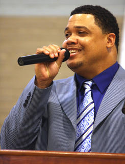 Minister Derrick McElroy, a Lebanon native and 1997 MCHS graduate, was a guest speaker at the event.