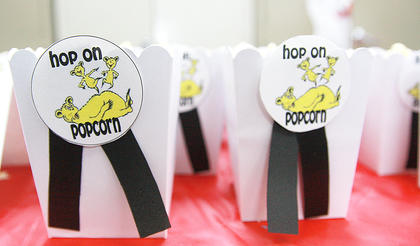 Hop on Popcorn was one of the snacks available for the librarys party.