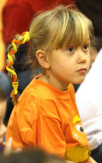 Piper Jones dressed as The Lorax for Friday's festivities.