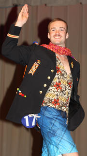 Chase Lancaster shows off his best pageant wave during the poise portion of the competition.