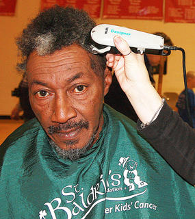 Joe Downs of Lebanon participated in St. Baldrick's for the fourth time this year.