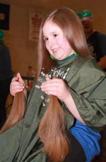 Mia Mattingly donated two ponytails to Locks of Love.