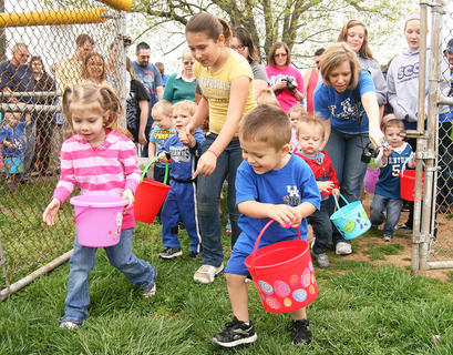 The City of Lebanon hosted its annual Easter egg hunt at Graham Memorial Park on Saturday. Hundreds of children (and their families) swarmed through the part gathering plastic eggs filled with goodies.