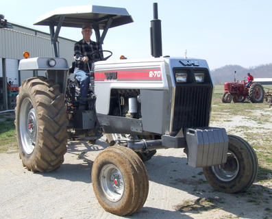 Frank Browning is ready to take his 1982 White 270 out to the field.
