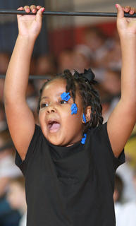 Kindergartner Imyni Means gave a high-energy performance.
