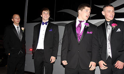 Pictured, from left, are sharp dressed men Thomas Mattingly, Jeff Ray, Jeremy Mattingly and Zach Buckler.