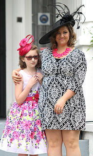 Priscilla Turner and her daughter, Isabella, made nice duo during their turn on the walk.