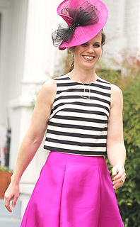 Kandace Potter's smile goes well with her outfit.