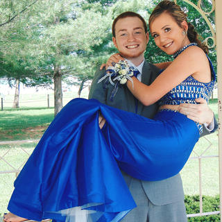 Pictured is Hope Rawlings and her date Shawn Boone. Photo by Mayte Gamez Huerta.