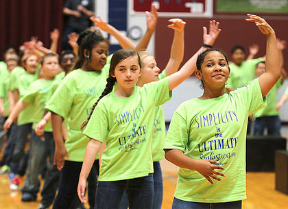 Pictured are fourth graders DeShaila Newby, Ava Akers, Bella Lawson and Imyni Means.