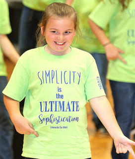 Pictured is fourth grader Sarah Turpin.