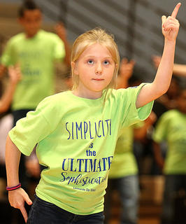 Pictured is fourth grader Lillian Mullins.