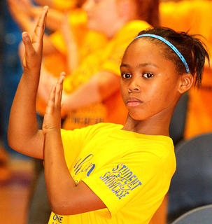 Pictured is third grader Syniah Edelen. (don't use this...she's in it every year!)