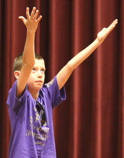 Pictured is fifth grader JD Spalding.