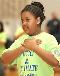 Pictured is fourth grader Imyni Means.