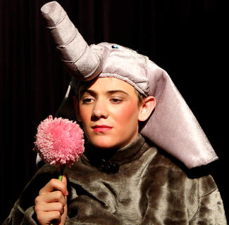 Horton, played by Cameron Ruley, hears a strange noise coming from a speck of dust, and decides there must be someone on it. He rescues the speck and places it on a clover and decides to guard it.