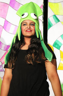 """Nima Patel plays the part of a sea creature during the song """"Oh, The Things You Can Think!"""" She played several roles during the musical, including one of the Wickersham Brothers, Yertle the Turtle, the Grinch and a hunter."""
