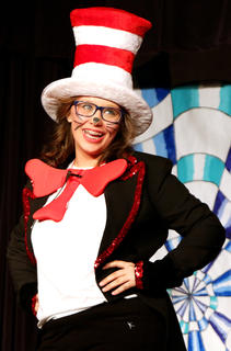 Delaney Hammond plays the part of the Cat in the Hat.