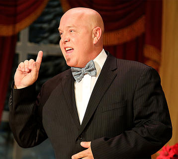 """Van Gadberry plays the part of Oliver """"Daddy"""" Warbucks, a billionaire businessman who opens his home and his heart to Annie."""