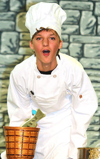 Mitchell Mattingly plays the part of Chef Louis.
